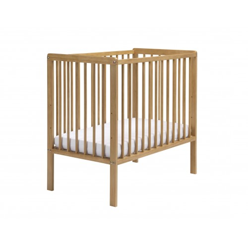 EAST COAST NURSERY COT SPACE SAVER WITH MATTRESS ANTIQUE