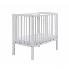 EAST COAST NURSERY COT SPACE SAVER WITH MATTRESS WHITE