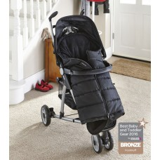 Clair De Lune Cocoon Pushchair Footmuff- Black