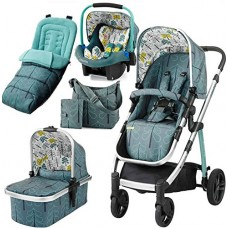 Cosatto Wow Travel System INCLUDING Car Seat, Footmuff and Changing Bag - Fjord