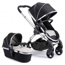 iCandy Peach Stroller & Carrycot - Chrome / Beluga