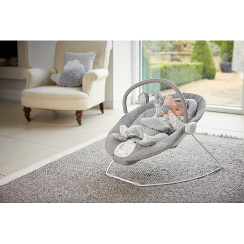 Apollo Baby Bouncer Chair with Music Book - Grey Melange