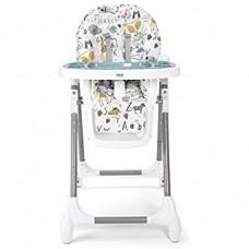 Snax Adjustable Highchair with Removable Tray Insert - Alphabet