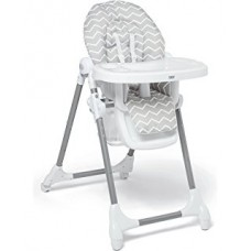 Snax Adjustable Highchair with Removable Tray Insert - Grey Chevron