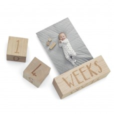 Mamas & Papas Wooden Keepsake Milestone Age Blocks