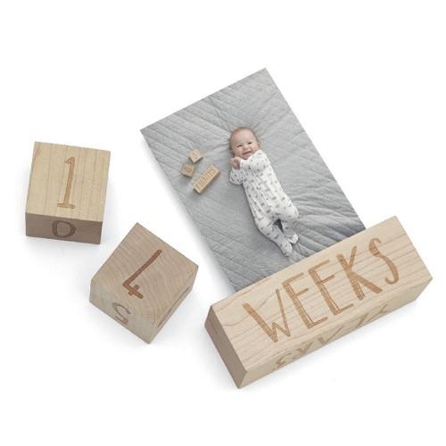Mamas & Papas Wooden Keepsake Milestone Age Blocks