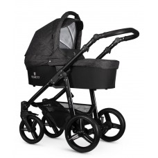 Venicci Soft Travel System - Black Chassis / Denim Black