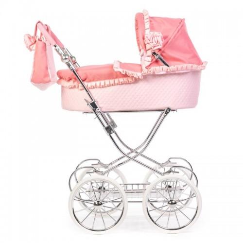 Roma Annie Classic Dolls Pram - Pink
