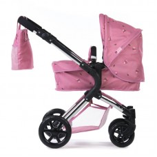 Roma Darcie Single Dolls Pram - Pink 3-9 years