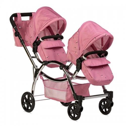 Roma Darcie Twin Dolls Pram - Pink