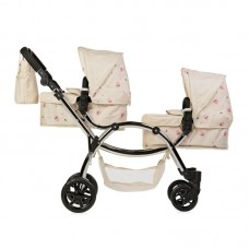 Roma Darcie Twin Dolls Pram - Cream