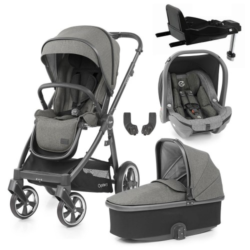 Babystyle Oyster 3 Essential 5-Piece Bundle - City Grey Chassis/Mercury