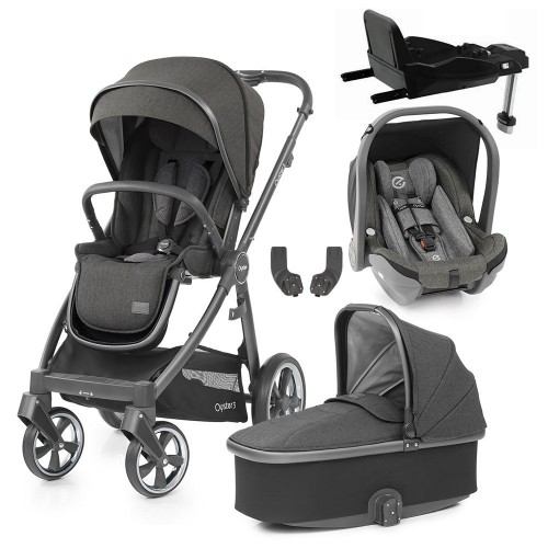 Babystyle Oyster 3 Essential 5-Piece Bundle - City Grey Chassis/Pepper