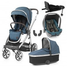 Babystyle Oyster 3 Essential 5-Piece Bundle - Mirror Chassis/Regatta