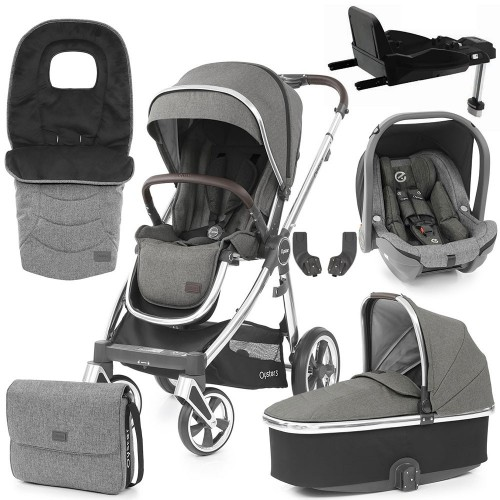 Babystyle Oyster 3 Luxury 7-Piece Bundle - Mirror Chassis/Mercury