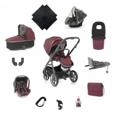 Babystyle Oyster 3 Ultimate 12 -Piece Bundle - City Grey/ Berry