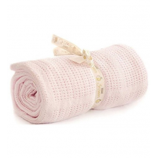 Bizzi Growin Cellular Blanket - Pink