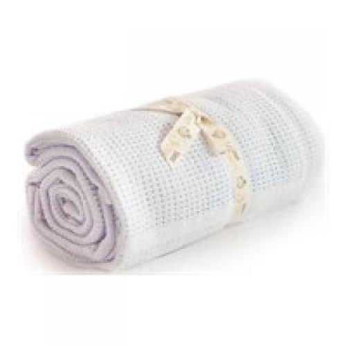 Bizzi Growin Cellular Blanket - Blue (90x70cm)