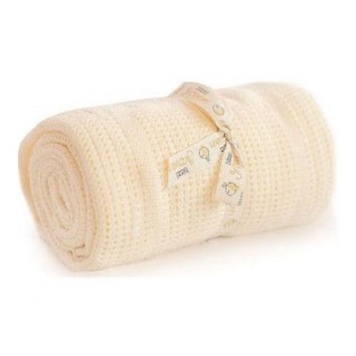 Bizzi Growin Cellular Blanket - Cream