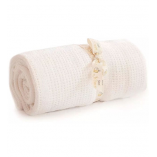 Bizzi Growin Cellular Blanket - White