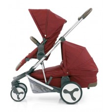 BabyStyle Hybrid Tandem Stroller-1 Carrycot-2nd seat (Lava Red)