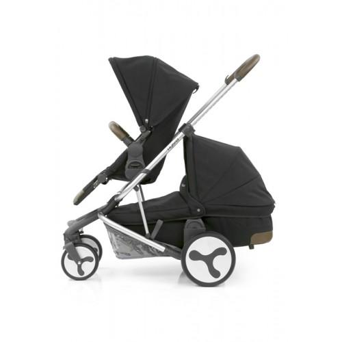 BabyStyle Hybrid Tandem Stroller-1 Carrycot-2nd seat (Black)