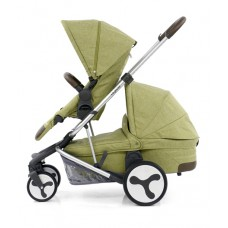 BabyStyle Hybrid Tandem Stroller-1 Carrycot-2nd seat (Pistachio)
