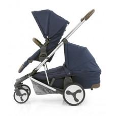 BabyStyle Hybrid Tandem Stroller-1 Carrycot-2nd seat (Navy)