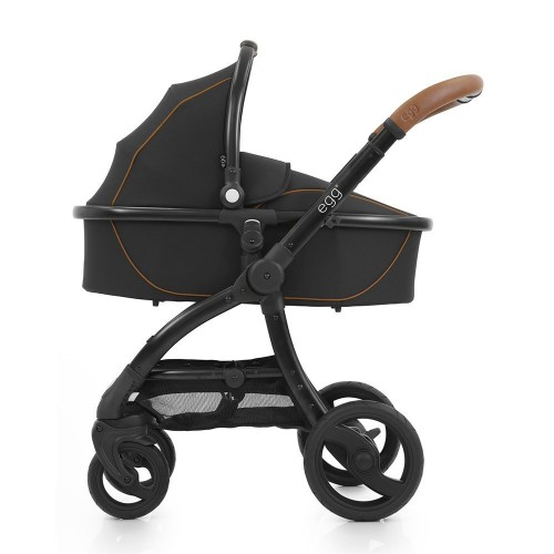 Egg Stroller and Carrycot in Espresso Black/Black Frame