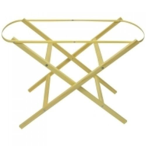 Elegant Wooden Moses Basket Stand