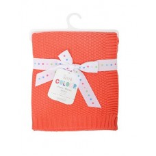 Silver Cloud Love Colour Baby Blanket (Orange)