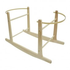 Cuddles Collection Rocking Moses Basket Stand (Natural)