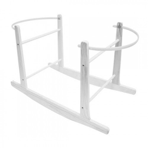 Cuddles Collection Rocking Moses Basket Stand (White)