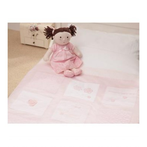 Silver Cross Luxury Cot Bed Quilt Vintage Pink