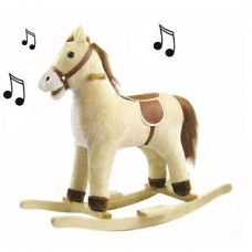 Cuddles Collection Small Baby Buttermilk Rocking Horse