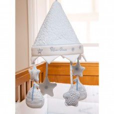 Silver Cross Vintage Blue Musical Cot Mobile