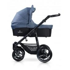 Venicci Soft Travel System - Black Chassis / Denim Blue
