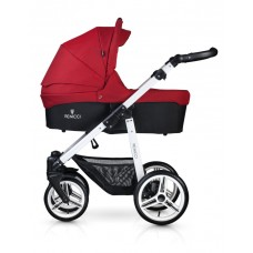 Venicci Soft Travel System - White Chassis / Denim Red