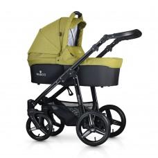 Venicci Soft Travel System - Black Chassis / Denim Green