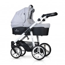 Venicci Soft Travel System - White Chassis / Light Grey