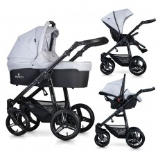 Venicci Soft Travel System - Black Chassis / Light Grey