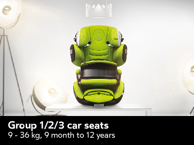 Group 1/2/3 car seats